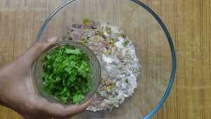 Ragi roti -coriander