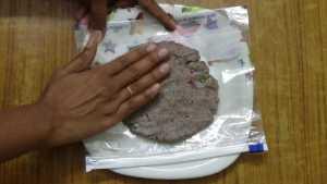 Ragi roti -flatten