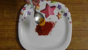 vazhakkairoast -turmeric powder