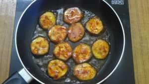 vazhakkai roast -bottom done