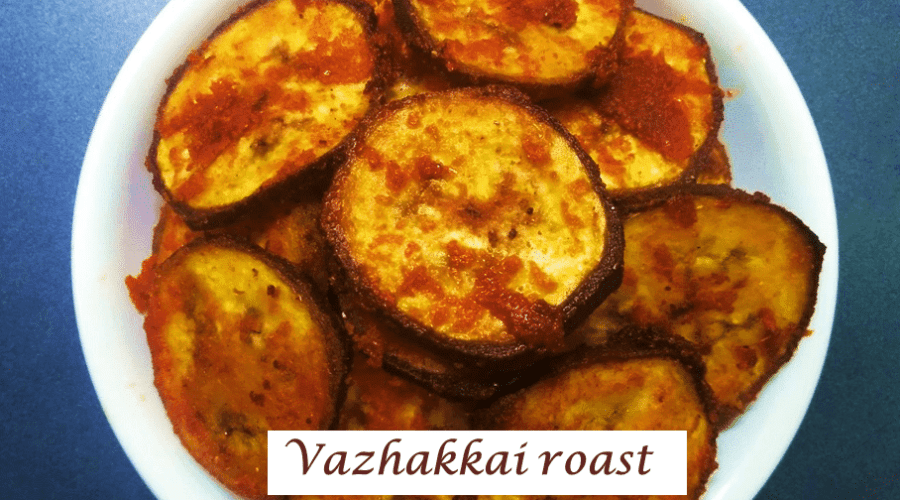Vazhakkai roast -feature