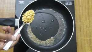 Snake gourd stir fry -gram dal