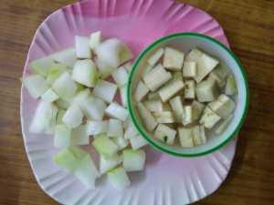 Thiruvathirai kuzhambu -veggies