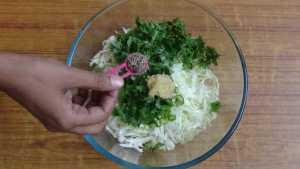 Cabbage pakoda -cumin