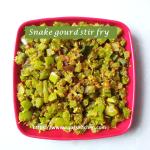Snake gourd stir fry -thumbnail