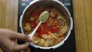 Mutton thin gravy -coriander powder