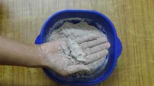 Ragi puttu -well moistured