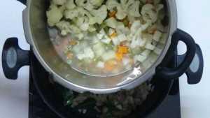 White kurma -boiled veggies