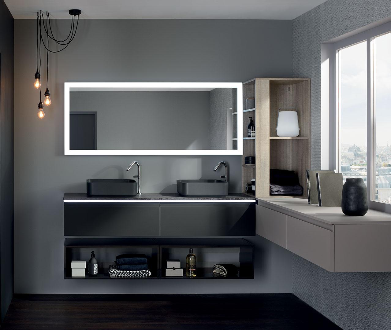 Dasasortiment Halo Design Badezimmermobel Sanijura
