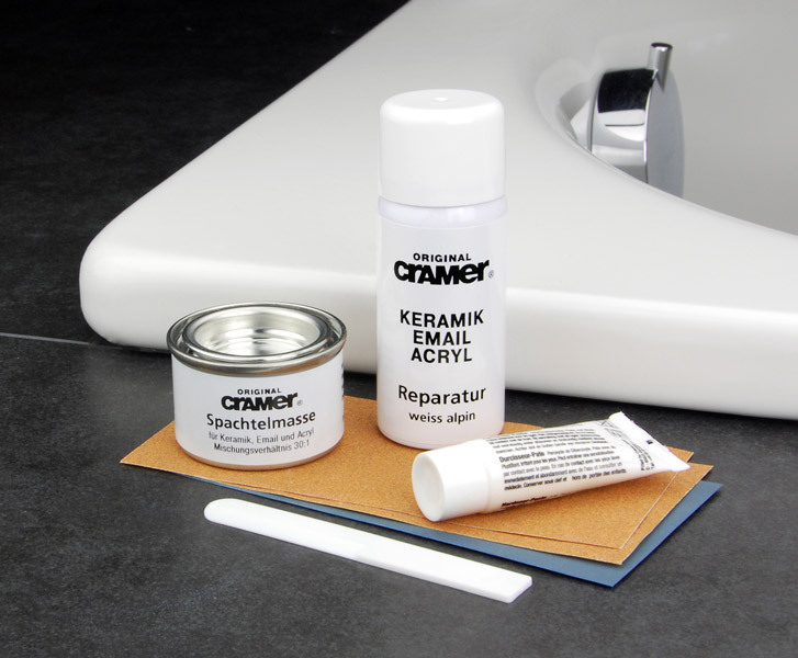 Cramer Reparatur Keramik Email Acryl Reparatur Set Wei Alpin