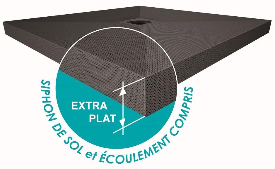 receveur a carreler panodur slim extra plat 60 mm bonde comprise