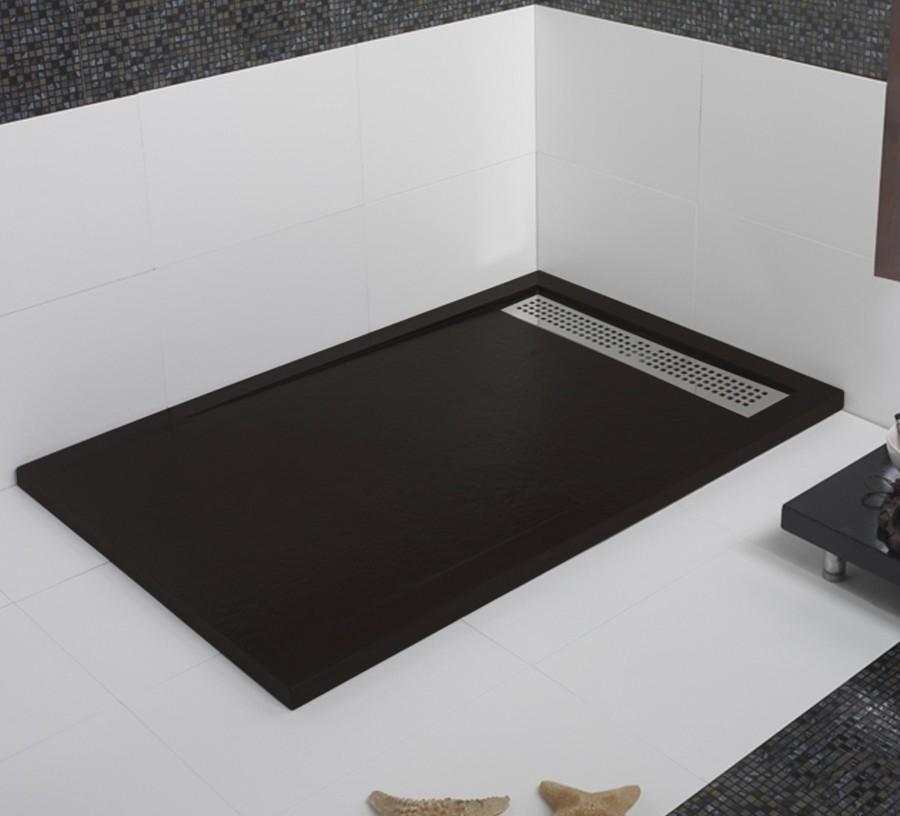 receveur de douche ecoulement lineaire andromede graphite 70x80