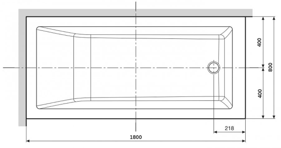 Baignoire Rectangulaire CALOS 180x80 Sans Tablier