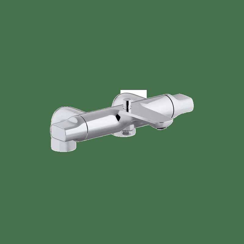 mitigeur thermostatique bain douche sur gorge aleo ref e72287 cp jacob delafon