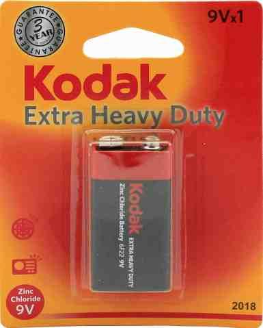 Kodak Extra Heavy Duty 9V Battery 2018