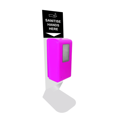 Countertop Automatic Pink Hand Sanitiser Station