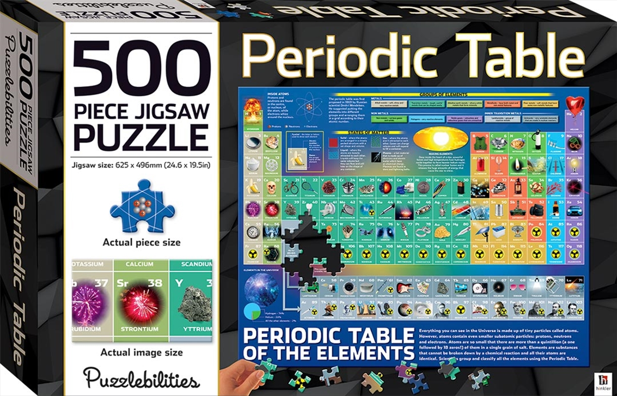 Buy Periodic Table 500 Piece Jigsaw Puzzle Puzzles