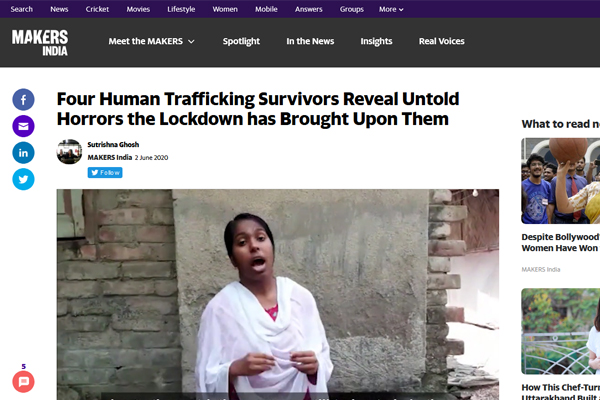 Four human trafficking survivors reveal untold horrors the lockdown has brought upon them