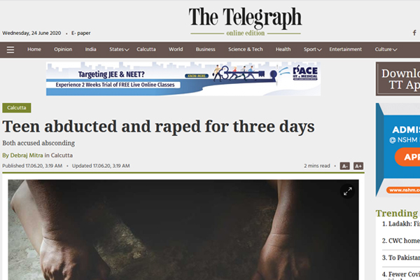 Teen abducted and raped for three days
