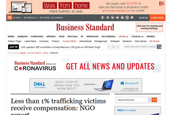 Less than 1% trafficking victims receive compensation: NGO report