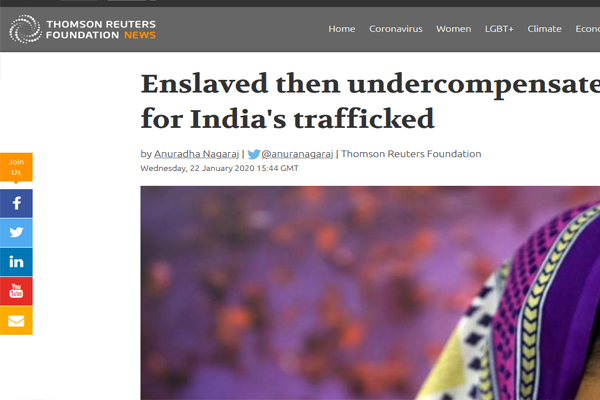 Enslaved then undercompensated: double blow for India's trafficked