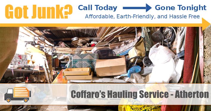 Junk Removal Atherton - Coffaro's Hauling Service