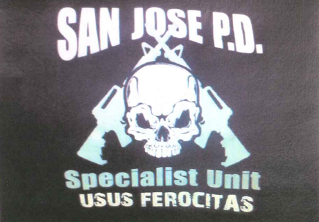 This logo was the original design for a shirt San Jose police officers  could purchase 59945bd5159