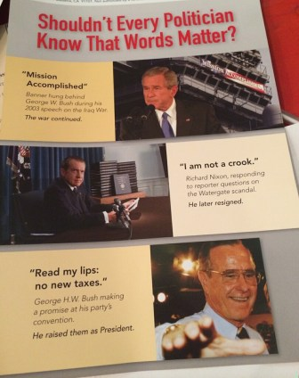 This is one of several attack ads sent out against State Assembly candidate Armando Gomez.