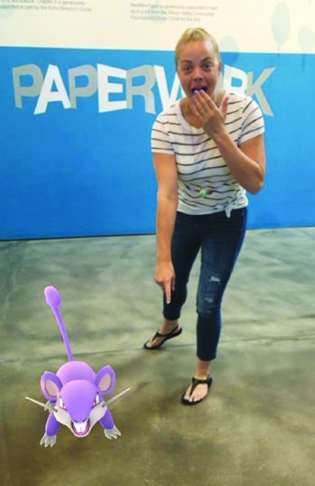 Sarah Dragovich, spokeswoman for the San Jose Institute of Contemporary Art, has had several Pokémon sightings at the SoFA gallery.