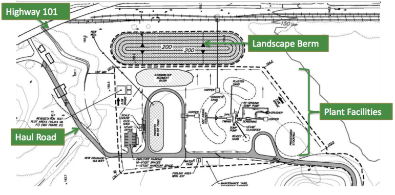 The proposed layout of the Sargent Quarry. Source: Santa Clara County