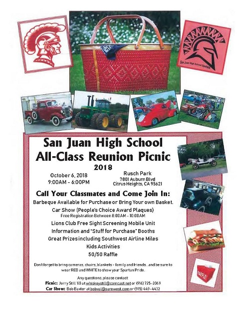 SJHS All Class Reunion and Picnic