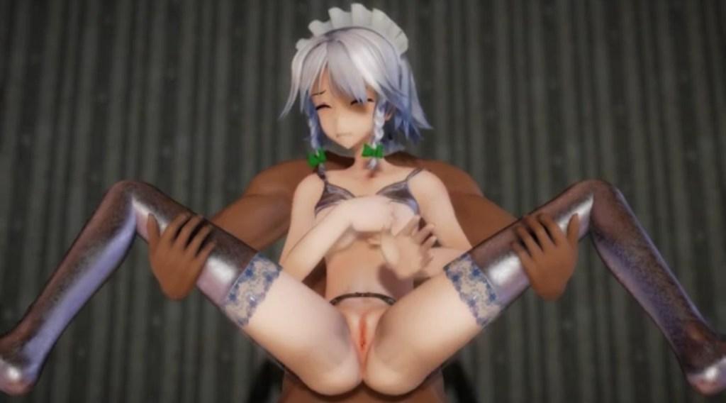 【東方MMD】Izayoi Sakuya Ero-MMD キャプチャー画像 (8)