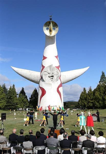 3月に内部公開が始まる太陽の塔=大阪府吹田市の万博記念公園