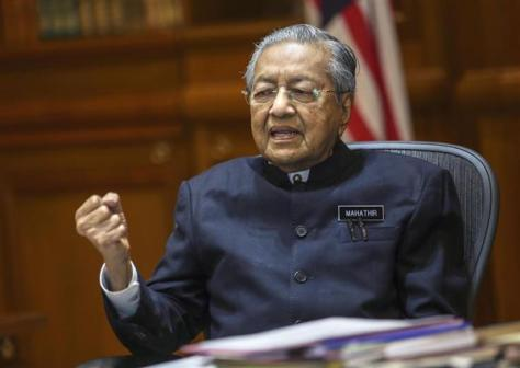 マレーシアのマハティール首相(サイフル・ルズアン氏撮影・共同)