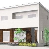【秋田県・由利本荘市御門】2(3)LDK 新築戸建て・分譲住宅|外観パース
