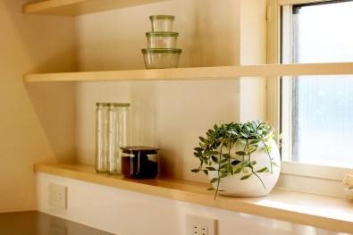 AKITA×DESIGN STANDARD300 由利本荘モデルハウス キッチン棚 キッチン棚