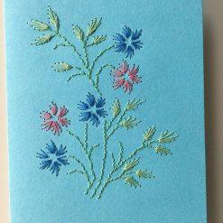 Nr 12 kleine Blüten hellblau-bunt