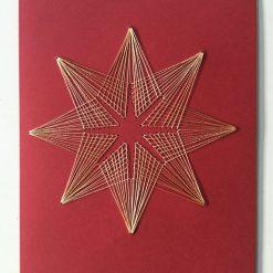 Nr 2 Stern rot-gold