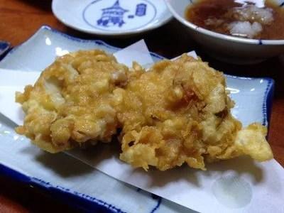 ハマグリの天ぷら