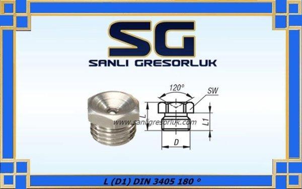 Gresörlük çukur başlı dişli düz tip Paslanmaz L (D1) DIN 3405 180 °-1 copy