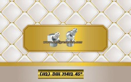 Hydraulic grease nipple H45 (H2) DIN 71412, zinc-plated steel