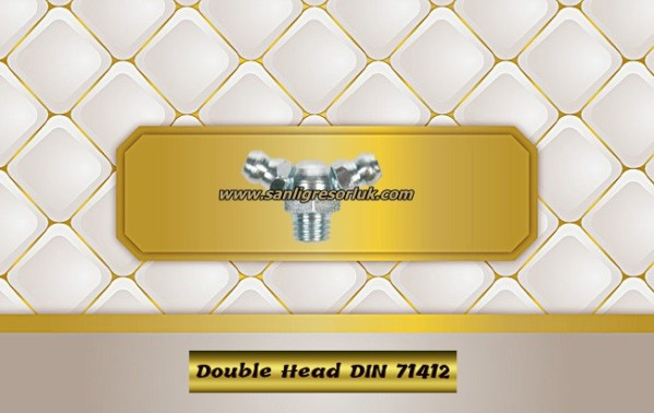 Hydraulic grease nipple double DIN 71412