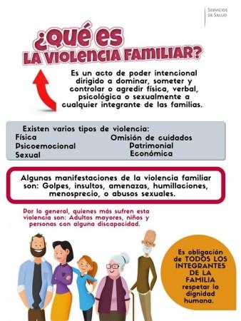 Servicios de Salud llaman a prevenir violencia en el ámbito familiar