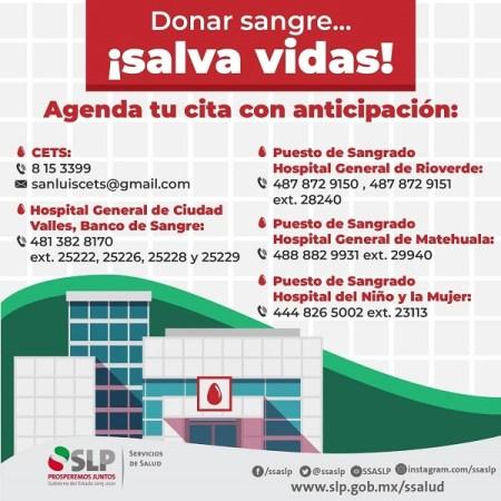 Cierra Julio con 59 unidades de donaciones voluntarias de sangre en el Estado: CETS.