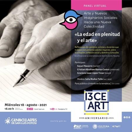 """Panel Virtual """"La edad en plenitud y el arte"""""""