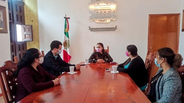 Ayuntamiento de Villa de Reyes acuerda trabajo coordinado con el IMES