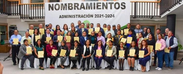 Alcaldesa Leonor Noyola presenta gabinete legal y ampliado
