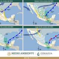 El sistema frontal 4 y su masa de aire frío generarán descenso de temperatura en regiones de San Luis Potosí