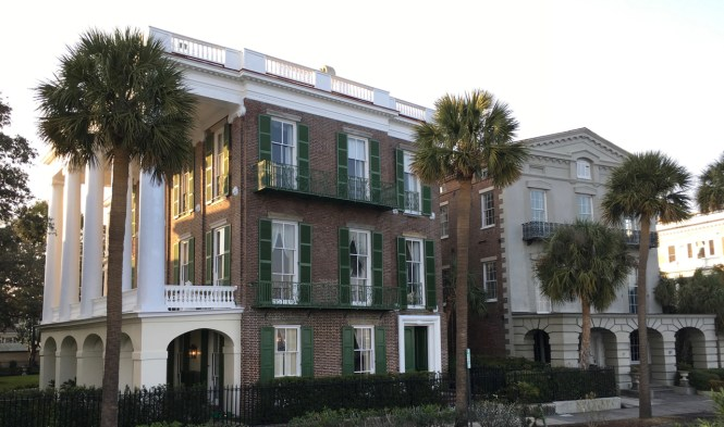 Historic mansions on our walk around Charleston