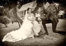 Foto simpática de boda